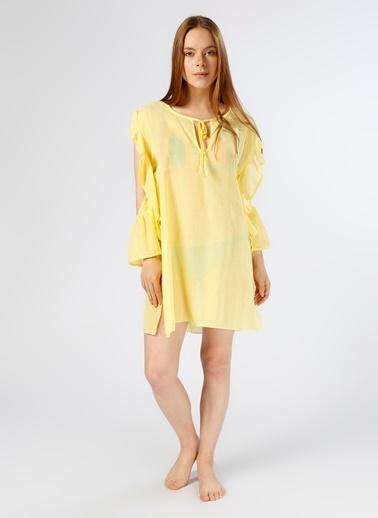 Limon Company Plaj Elbisesi Sarı